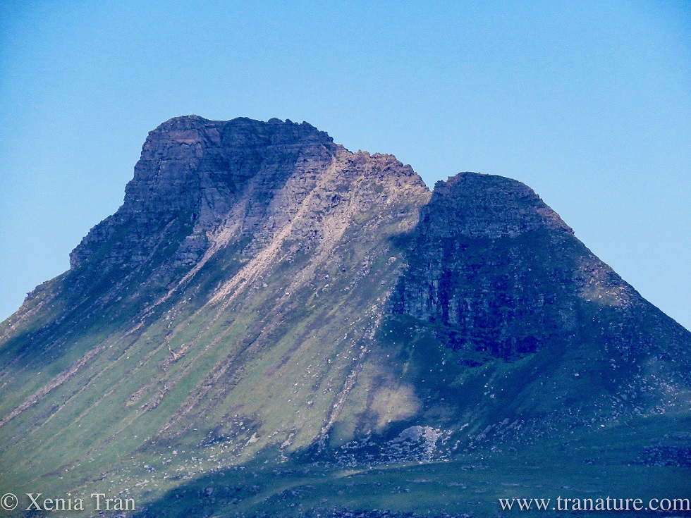 zoomed in shot of the peak of Stac Pollaidh in Coigach, Sutherland