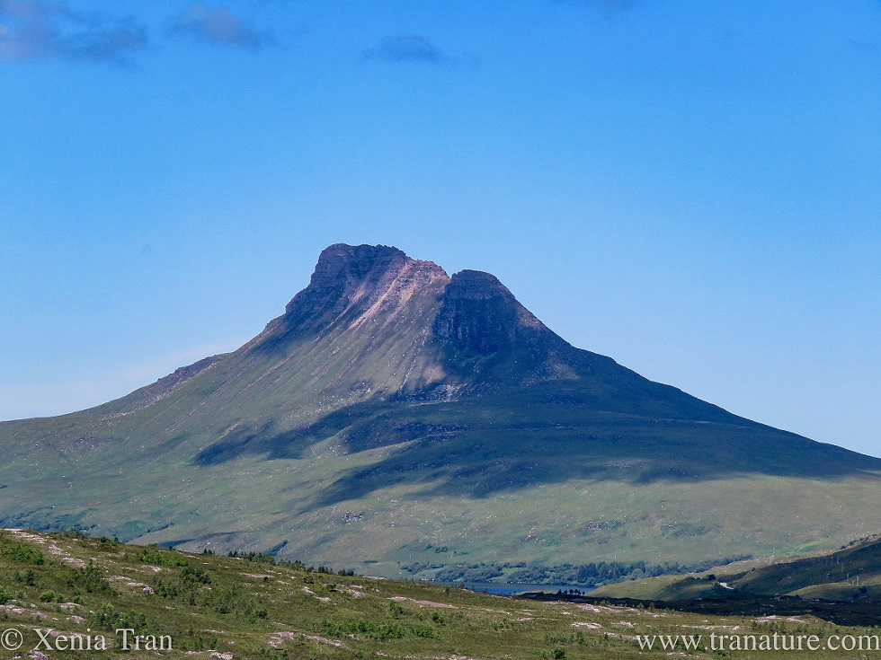 a zoomed in shot of Stac Pollaidh in Coigach, Sutherland