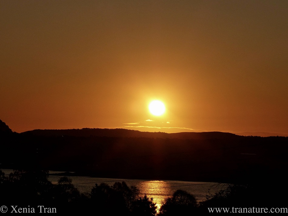 golden sunrise over the Kyle and mountains