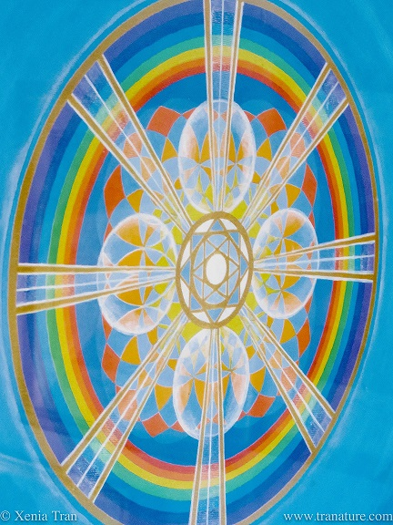 picture of a mandala by Mike Booth