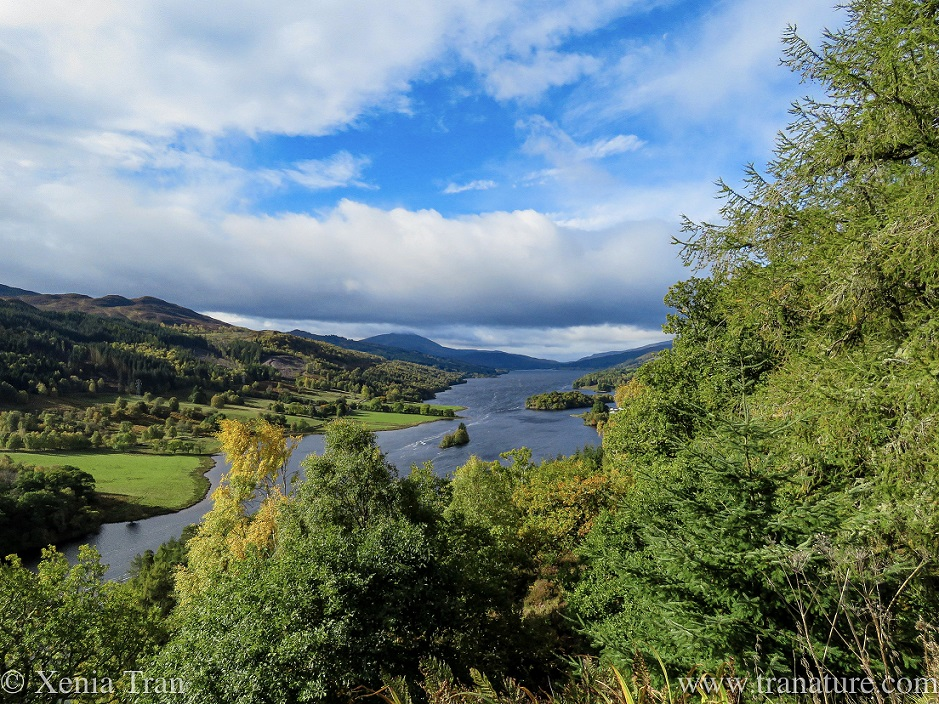 view along the length of Loch Tummel towards Glencoe