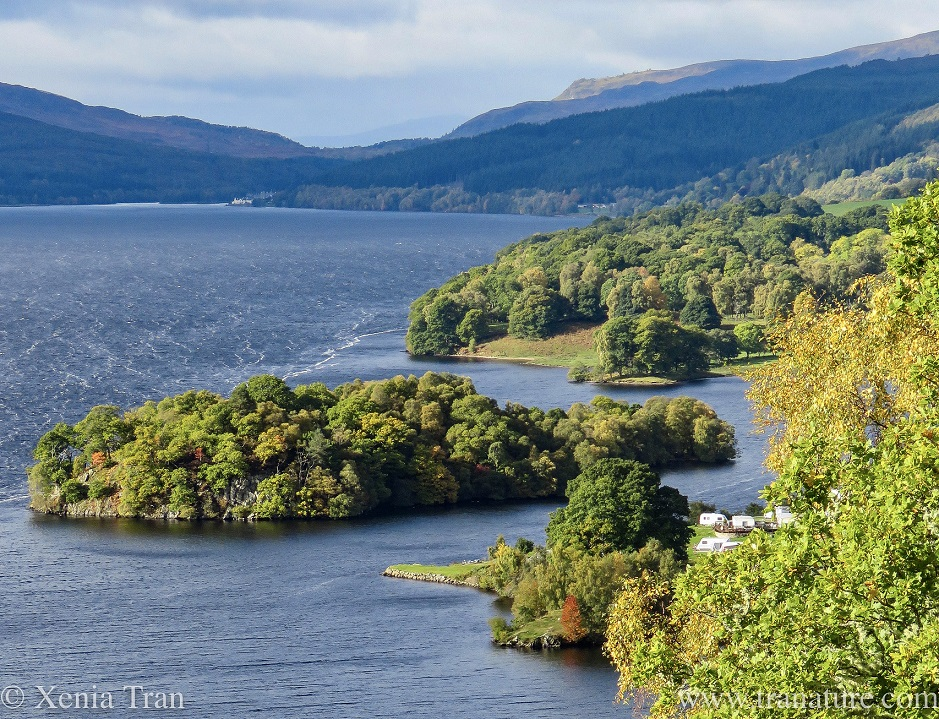 the south shore of Loch Tummel in Autumn